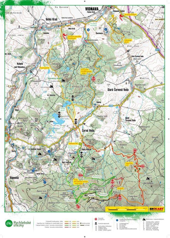 Aktualna mapa Rychlebskich Ścieżek, którą warto zabrać ze sobą w wersji elektronicznej, ponieważ ostatnio nie można było dostać jej na miejscu.